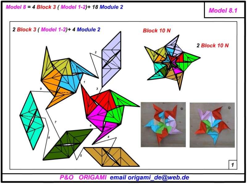 Оригами из блока для записей